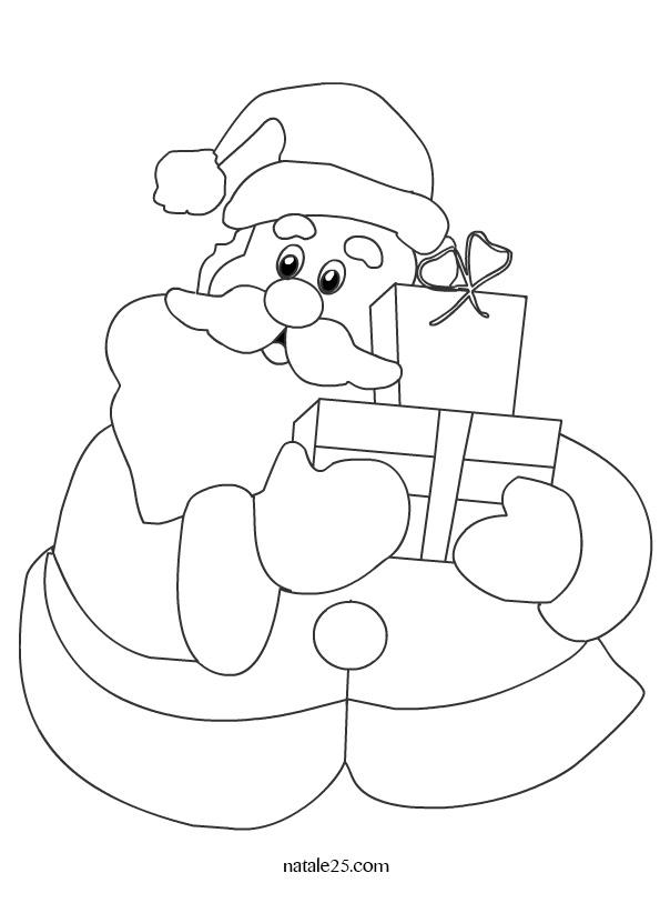 Babbo Natale con pacchi regalo