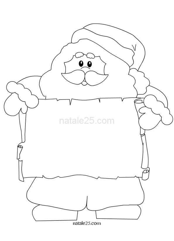 Babbo Natale con pergamena
