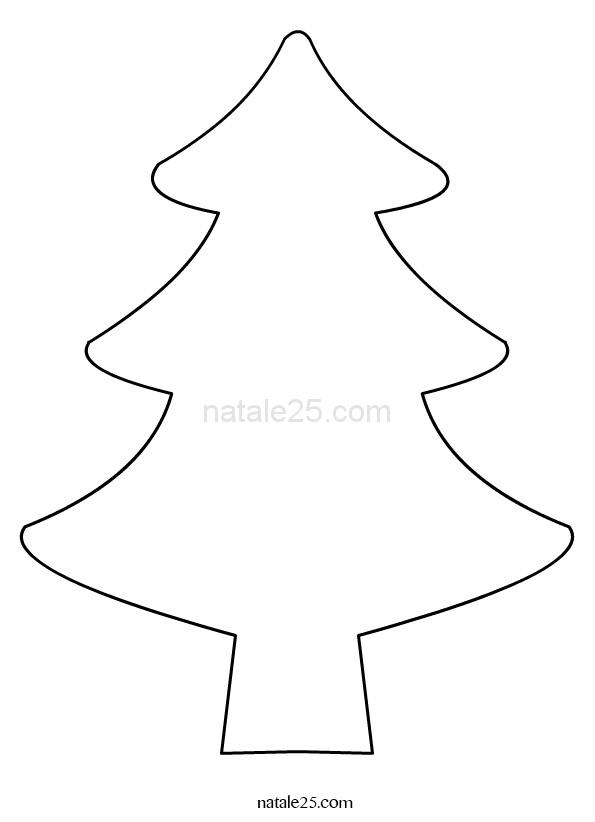 Sagoma albero di Natale per lavoretti