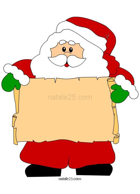 Babbo Natale con pergamena illustrazione