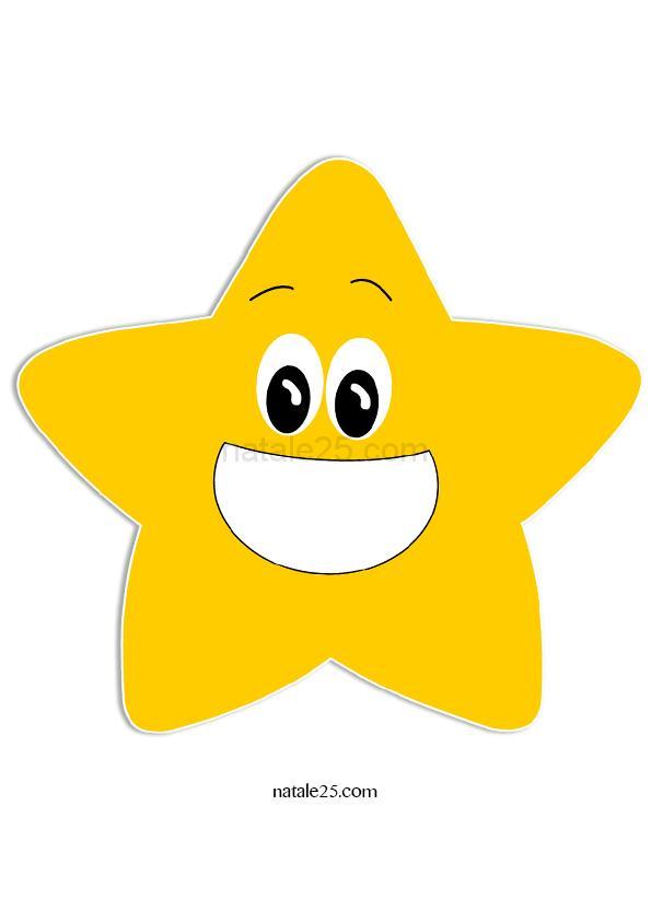 stella gialla - natale25.com - letterine, biglietti, lavoretti ... - Disegno Stella Colorate