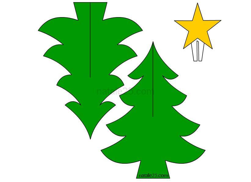 Stella Di Natale Tridimensionale.Albero Natale 3d Natale 25
