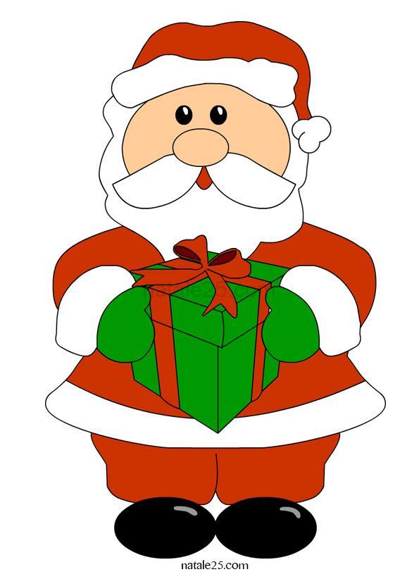 Babbo Natale con pacco regalo