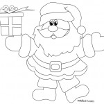 Disegni di Natale – Babbo Natale felice