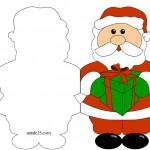 Biglietti Natale – Babbo  Natale con regali