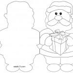 Biglietti Natale da colorare – Babbo Natale