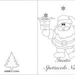 Invito spettacolo di Natale da colorare