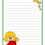 Letterina di Natale con angelo