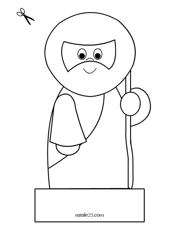 Presepe di carta da ritagliare – San Giuseppe