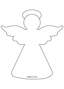 Angioletti di natale da ritagliare great lalbero di for Angeli da ritagliare