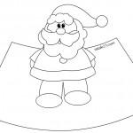 Babbo Natale in 3D da colorare