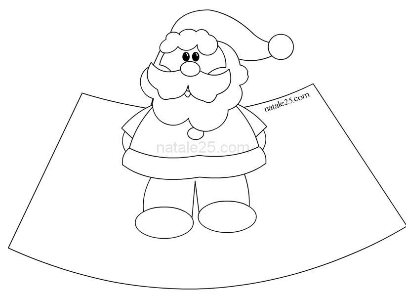 Lavoretti Di Natale Per Bambini Da Colorare.Babbo Natale In 3d Da Colorare Natale 25