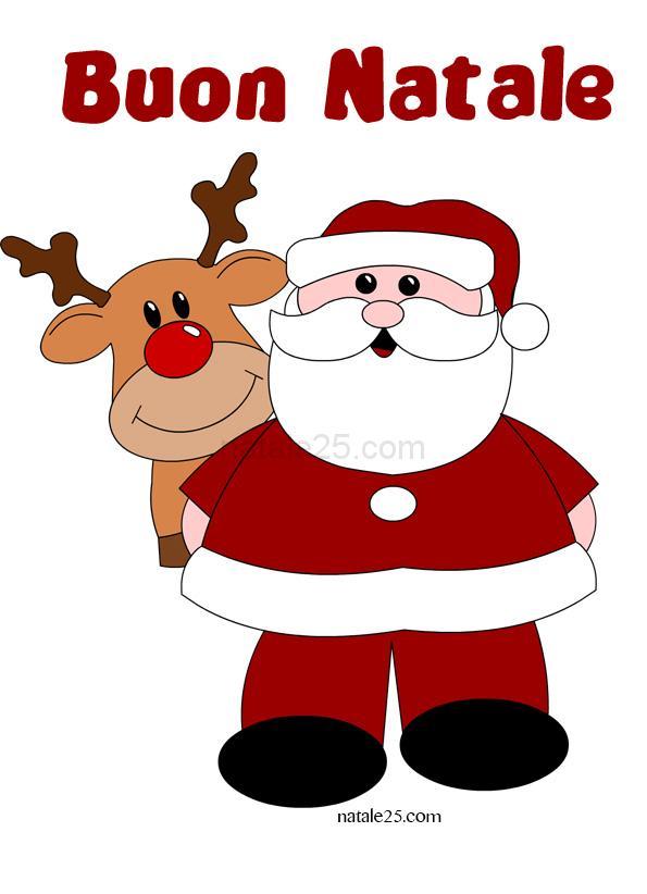 Immagini Babbo Natale Con Renne.Babbo Natale Con Renna Natale 25