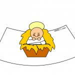 Presepe 3D da stampare – Gesù Bambino