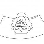 Presepe di carta in 3D – Gesù Bambino