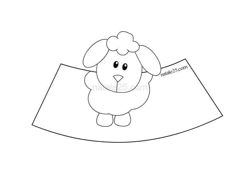 Presepe di carta in d pecorella natale
