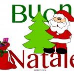Scritta Buon Natale a colori