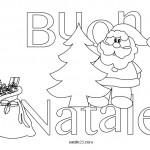 Scritta Buon Natale da colorare