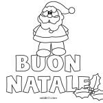 Scritta Buon Natale con Babbo Natale