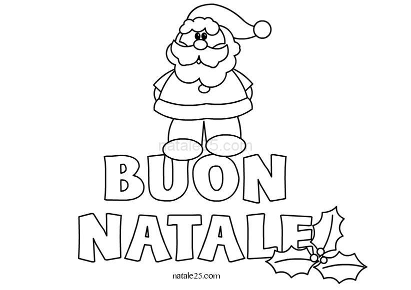Immagini Con Scritte Di Buon Natale.Scritta Buon Natale Con Babbo Natale Natale 25