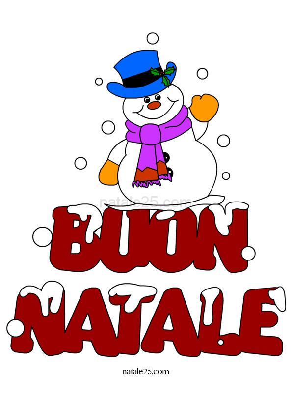 Immagini Con Scritte Di Buon Natale.Scritta Buon Natale Con Pupazzo Di Neve Natale 25