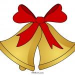 Campane di Natale con fiocco