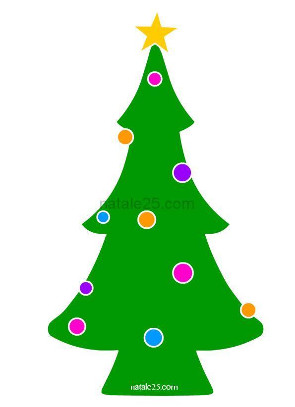albero natale con palline colorate