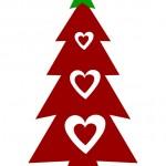 Albero di Natale con cuori 2