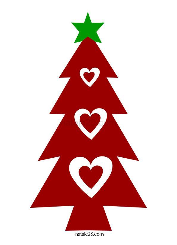 Albero Di Natale Con Cuori 2 Natale 25