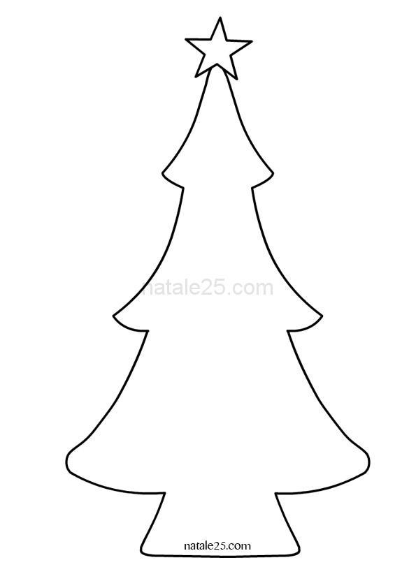 cartamodello albero di Natale