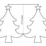 Biglietto albero di Natale da colorare