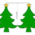 Biglietto a forma di albero di Natale