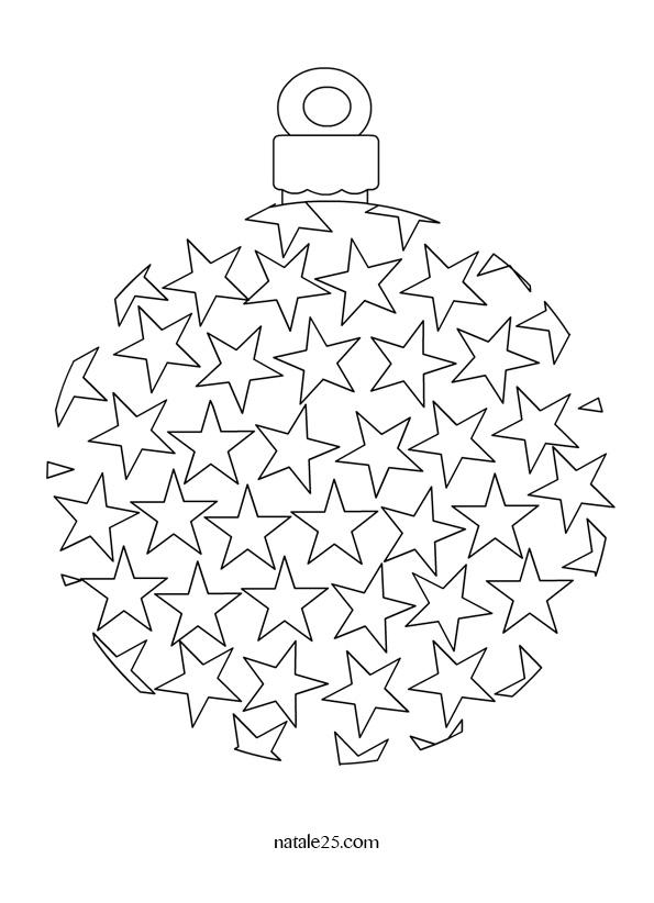 Pallina di Natale con stelle