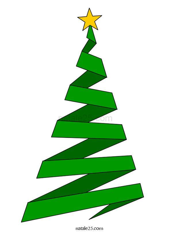 Albero di Natale stilizzato clip art
