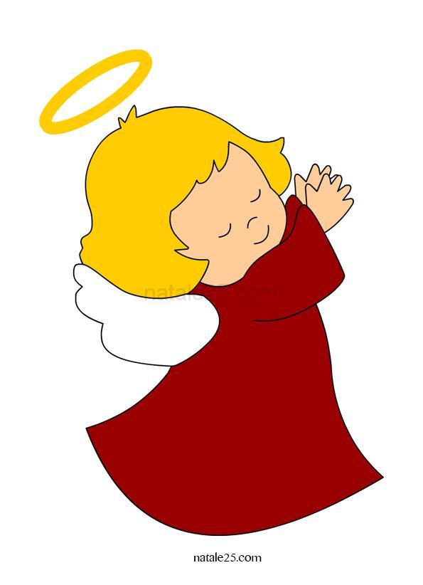 Angioletto immagine colorata natale 25 for Disegni di angeli da colorare per bambini