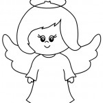 Angelo disegno per bambini