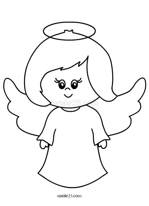 Angelo Disegno Per Bambini Natale 25