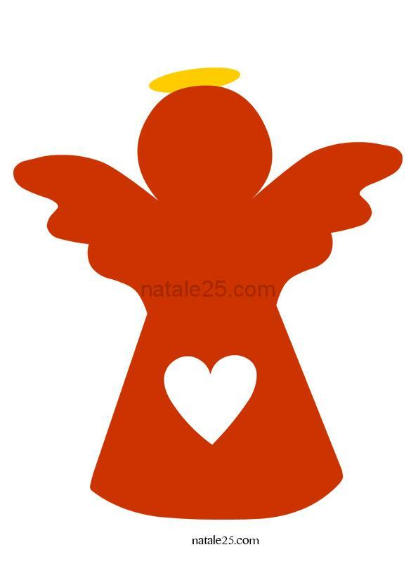 Addobbi aula angelo da ritagliare natale 25 for Addobbi aula natale