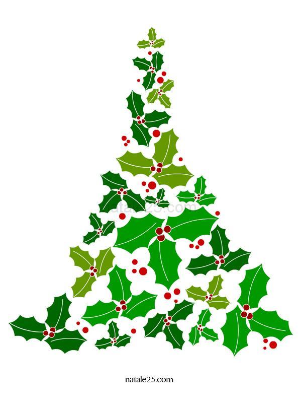 Albero di Natale con foglie di agrifoglio
