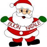 Babbo Natale con scritta Buon Natale