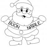 Disegni di Natale per bambini Babbo Natale