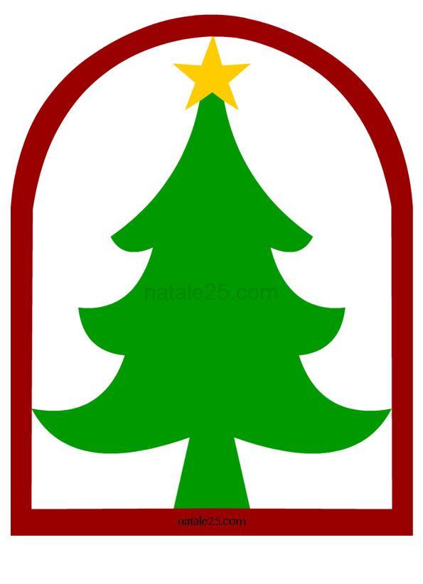 Decorazioni Natale da ritagliare