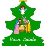 Albero di Natale con natività