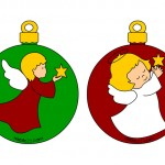 Palline di Natale da ritagliare