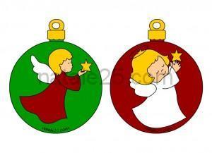 Natale 25 letterine biglietti lavoretti disegni per for Angeli da ritagliare