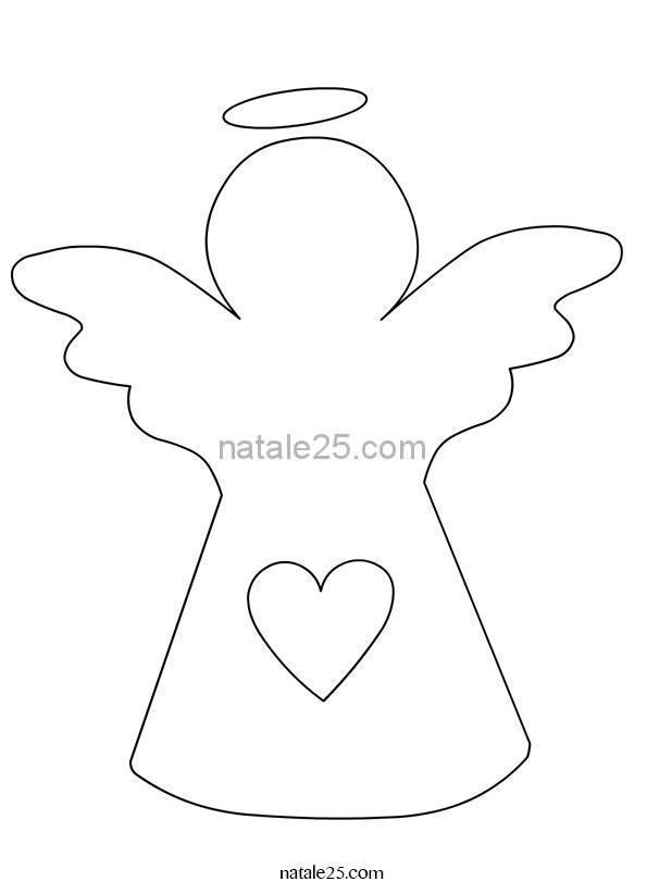Sagoma angelo per lavoretti