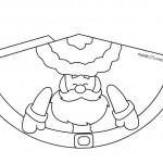 Babbo Natale a forma di cono