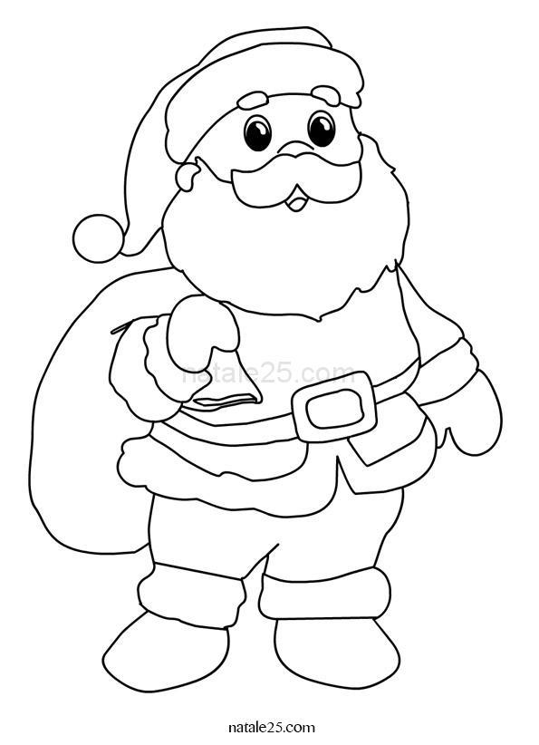 Babbo Natale con sacco da colorare