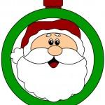 Pallina di Natale per addobbi aula scuola