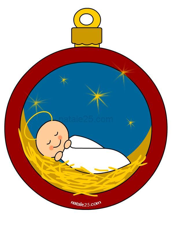 Pallina Di Natale Con Gesu Bambino Natale 25